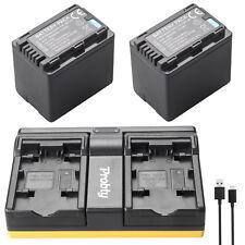 2pcs VW-VBT380 VBT380 Batteries + charger for Panasonic HDC-HS60 HS80 SD40 SD60
