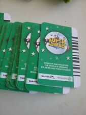 SUPER ANIMALS GREEN   WOOLWORTHS TARONGA ORDER BY NUMBER*6 for 2.00