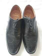 CHURCH'S Chetwynd Black Leather Men's Brogue Shoes Custom Grade UK Size 8.0 F