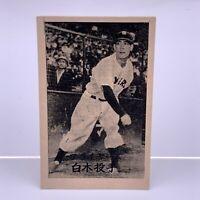 1950' Japanese Baseball Vintage Rare Menko Card picture ' Shiraki ' No,7