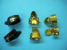 Banjo Guitar Steel Resonator National 4 finger Brass 2 med. Black Thumb Pick