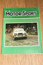 Motor Sport January 1978: Alfa Sud 1.3Ti Test/Ford Granada 2.8iS/TVR Taimar