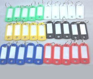 Lot of New 300 100 50 Plastic Key ID Labels Tags with Name Cards Split Ring