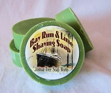 Bay Rum and Lime, Handmade Shaving Soap with Goat's Milk, One Round Mug Size Bar