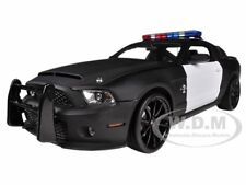2012 FORD SHELBY MUSTANG GT500 SUPER SNAKE UNMARKED BLAK/WHITE POLICE 1/18 SC462
