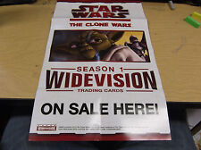 "2009 TOPPS STAR WARS -THE CLONE WARS  ADVERTISING POSTER 10"" X 17"""