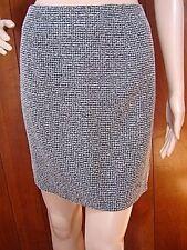 NEXT UP Juniors Mini Skirt 13 L Black Gray Boucle Tweed Textured Bodycon Pencil