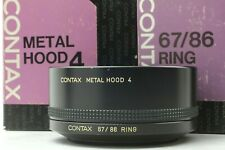 【Exc+5】Contax Metal Hood 4 & 67/86 Ring for Planar 85 f1.4, 100 f2 from Japan