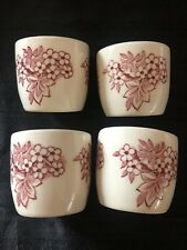 Crown Ducal Bristol Red egg cups set of 4