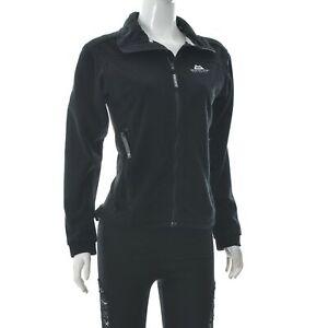 Mountain Equipment Fleece GORE Wind Stopper Membrane Jacket Zip Up Black Size S