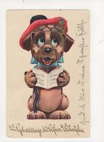 Dogs 1939 Greetings Postcard 437a
