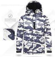 Southplay Mens Light Militarylook Waterproof Ski-Snowboard Outwear Hood Jacket