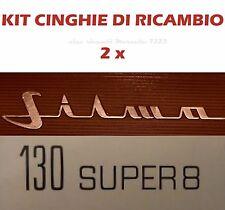 KIT CINGHIE DI RICAMBIO 2 x PROIETTORE SILMA 130 SUPER 8 (motore/trascinamento)★