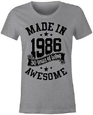 Made in 1986 30 Years of Being Awesome Ladies T-Shirt - BNWT