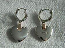Clogau Silver & 9ct Rose Gold Cariad Heart Drop Earrings RRP £139.00