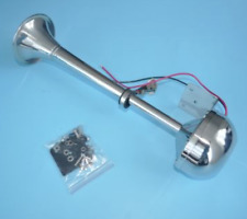 12V Marine Electric Single Horn Trumpet For Boat Yacht 100% Stainless Steel