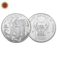 WR Congo 2007 10 Franc Silver Coin Endangered Wild Animal Elephant Souvenir Gift