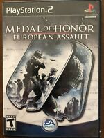 Medal of Honor: European Assault (Sony PlayStation 2, 2005) Complete. Tested.