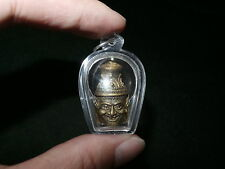 Thai Bronze Lersi Hermit God of Vedic Lore Head Amulet Pendant