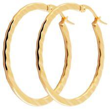 Titanium Titan Ohrhänger Ohrringe Klapp Creolen Kreolen Damen Hänger vergoldet 2