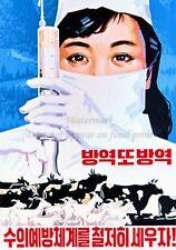 North KOREA Anti-American Propaganda Poster Print A3 + #D108