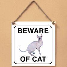 Don Sphynx Beware of cat Targa gatto cartello ceramic tiles