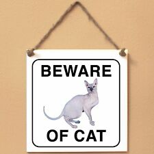 Don Sphynx Beware of Cat Plate Cat sign ceramic tiles