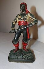 antique bronze patinated cold painted figural male pirate statue figure
