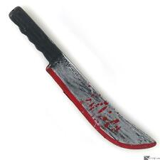 Forum Halloween Bloody Costume Accessory Knife Machete, Grey Black Red, 11.5""