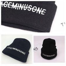 Kpop Bigbang GD G Dragon FXXK IT Unisex Black Hat Peaceminusone Knit Hat Beanie