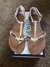Nine West Jackson Nude Flat Sandals 6 M