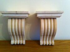 Hecho a mano de madera Corbel soportes estilo 16