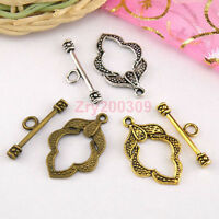 10sets antiqued bronze color 2sided toggle clasp findings H1769