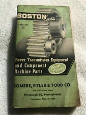 Boston Gear Power Transmission catalog 1950 Pittsburgh Somers Fitler & Todd Co.