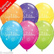 """6 x CONGRATULATIONS WELL DONE 11"""" LATEX HELIUM BALLOONS PARTY 17982"""