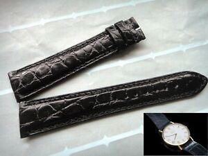 Genuine alligator skin band strap 19mm x 16mm bracelet (FITS) Rolex CELLINI