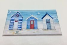 HANDMADE MINIATURE DOLLS HOUSE ACCESSORY CANVAS STYLE WALL ART PICTURE BEACH Hut