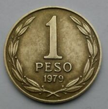 Chile 1 Peso 1979. KM#208a. One Dollar coin. 2 years issue. Aluminum Bronze.