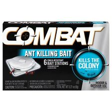 Case of 12 Combat Ant Killing Bait Stations 6 Packs for Indoor & Outdoor Use
