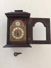 Antique Diette Hour France 388 Tempis Fugit Wooden Mahogany Mantel Clock