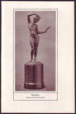 ALFONS DAUMILLER APHRODITE Bronzewerk - alter  Druck - 1900er Jahre - print