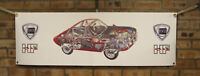 lancia fulvia rally car large pvc  WORK SHOP BANNER garage  SHOW BANNER