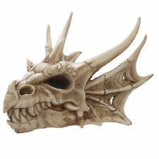 Horned Dragon Skull - High Quality Resin Ornament 25cm - Gothic Fantasy FREE P&P