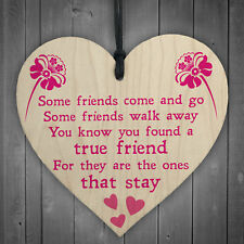 True Friend Poem Friendship Best Friends Gift Hanging Plaque Love Family Sign