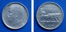 REGNO 50 CENTESIMI 1921 LEONI CONTORNO RIGATO