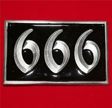 """666 THE NUMBER OF THE BEAST Rock Gothic Punk Unisex BELT BUCKLE 2-1/2"""" x 4"""" New"""