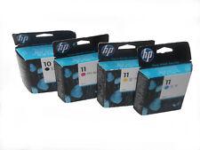 4 x Original Hp11&10  C4836A, C4837A, C4838A Set *Designjet 70 100* Inkjet 1000