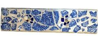 Wall Shelf Entryway Coat Rack Blue Tile Mosaic Broken Plate Chic Shabby A43