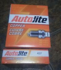 FOUR(4) Autolite 437 Copper Core Spark Plug BOX / also have singles