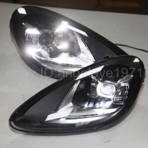 2011-2014 year LED front lamps For Porsche Cayenne LED headlights black housing